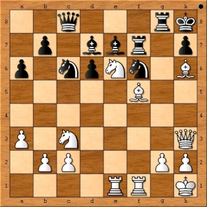 To his credit, GM Maurice Ashley manages to save his king but will definitely lose material after IM Emory Tate plays Ng5. Knowing this, black resigns.