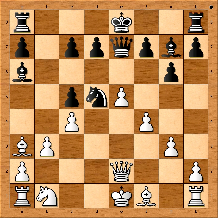 Position after 12. f4.