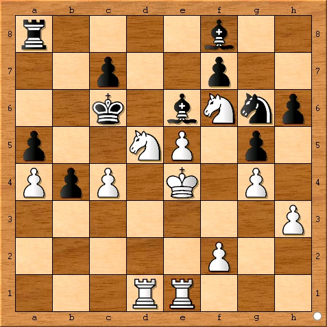 Position after Viswanathan Anand plays 28... cxb4.