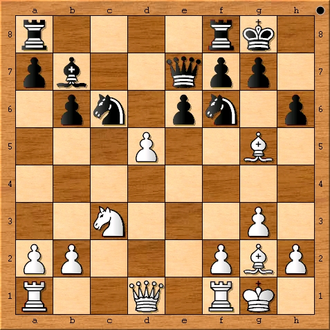 The position after Viswanathan Anand plays 16. d5.