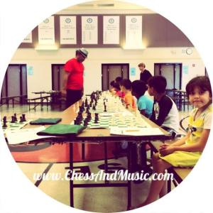 Our campers thoroughly enjoyed Emory's simultaneous chess exhibition. IM Emory Tate won on every board!