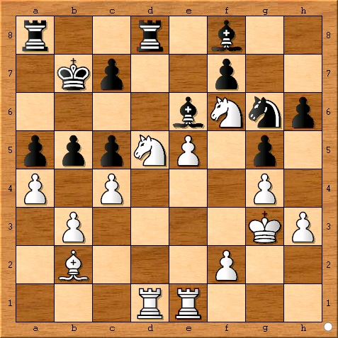 Position after Viswanathan Anand plays 23... b5.
