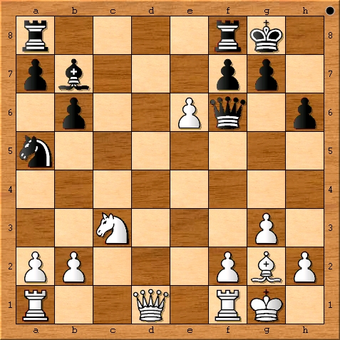 The position after Viswanathan Anand plays 18. exd6.