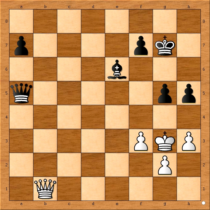 Position after 54... Qxa5.