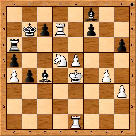 Position after Magnus Carlsen plays 34. Nd5.
