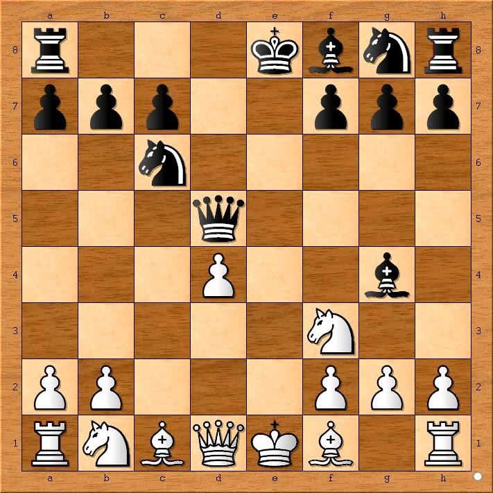 Position after 6... Bg4