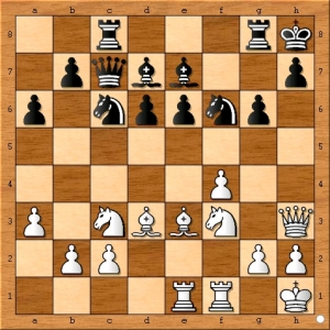 IM Emory Tate suggested that black should have played 18...Bxf6 instead of 18...Nxf6.