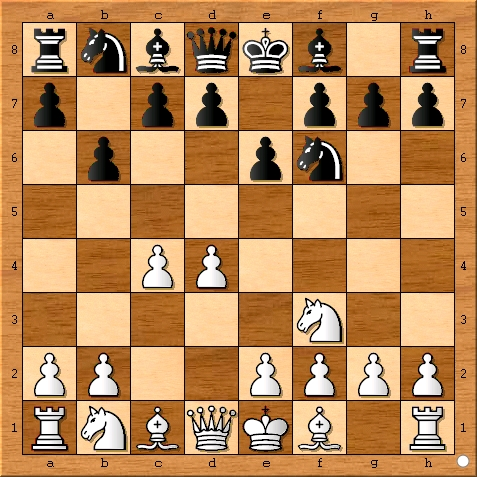 The move after Magnus Carlsen plays 3... b6.